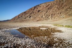 Death Valley nationalpark under molnfri varm dag Royaltyfria Bilder