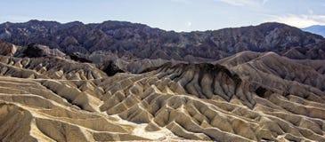 Death Valley nationalpark - Zabriskie punkt arkivbild