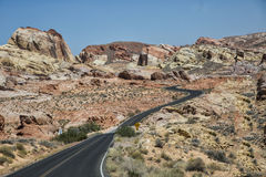 Death Valley, Nevada USA, road and hills Royalty Free Stock Images