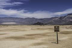 Death Valley - North Panamint in Summer stock photography