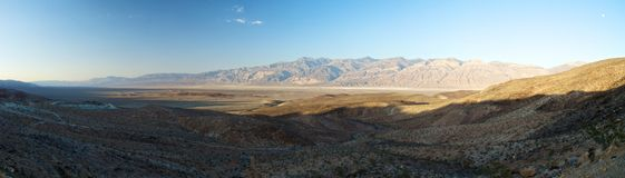 Death Valley panorama, Kalifornien Arkivfoto
