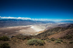 Death Valley panorama. Death Valley stiched panorama from mountain Royalty Free Stock Photo