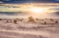 Death Valley panorama. Death Valley stiched panorama from mountain Royalty Free Stock Images