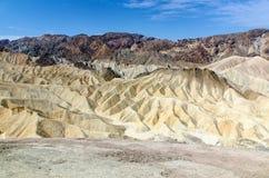 Death Valley, parque nacional, punto de Zabriskie Fotos de archivo libres de regalías