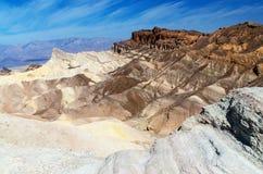 Death Valley, parque nacional, punto de Zabriskie Fotos de archivo