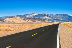 Death Valley Rd. The road to Death Valley from Baker, California Royalty Free Stock Images