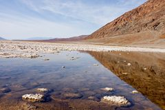 Death Valley and reflection-MAR1308_3687-SF-ER1 Royalty Free Stock Photography