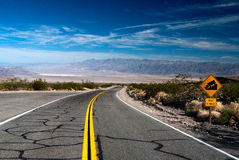 Death Valley. The road through death valley Stock Photo