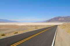 Death Valley Road Curve Stock Photos