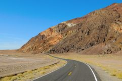 Death Valley Road Curve Stock Images