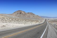 Death Valley road Royalty Free Stock Photo
