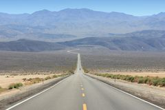 Death Valley road Stock Images
