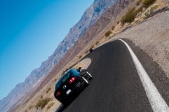 Death valley road surface car Stock Photos