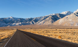 Death Valley. Road to Death valley Desert Royalty Free Stock Photo