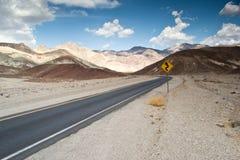 Death Valley route Royaltyfria Bilder