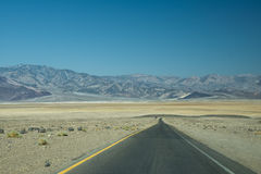 Death Valley Route Royalty Free Stock Images