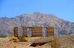 Death Valley : Ruines de moulin d'Ashford Photographie stock libre de droits