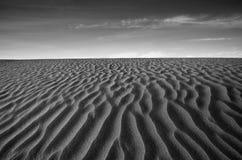 Death Valley Sand Dune. Wind swept sand creating ridges on a Death Valley sand dune in California Stock Photos