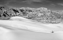 Death Valley Sand Dune. Wind swept sand creating ridges on a Death Valley sand dune in California Stock Image