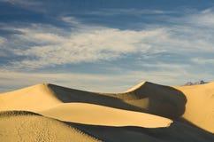 Death Valley Sand Dune. Wind swept sand creating ridges on a Death Valley sand dune in California Stock Photo
