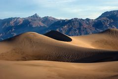 Death Valley Sand Dunes In Early Morning Royalty Free Stock Images