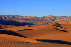 Death Valley - Sanddyner Royaltyfria Foton