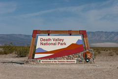 Death Valley sign Stock Photo