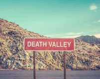 Death Valley Sign Royalty Free Stock Photos