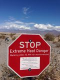 Death Valley. Sign - Death Valley 2014 trip Stock Image