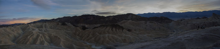 Death Valley solnedgångpanorama Royaltyfri Fotografi
