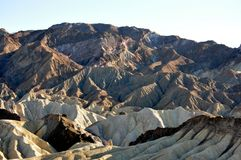 Death Valley. The Sun highlighting the mountains in Death Valley Stock Images