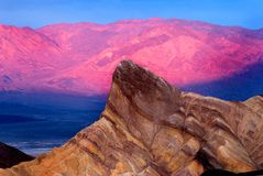 Bright pink mountains Royalty Free Stock Photography