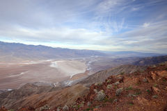 Death Valley sunrise from Dante's View Royalty Free Stock Photo