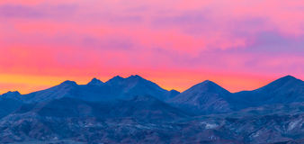 Death  Valley Sunset Royalty Free Stock Photography