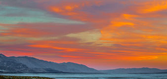 Death  Valley Sunset Stock Photography