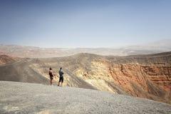 Death Valley turister Royaltyfria Bilder