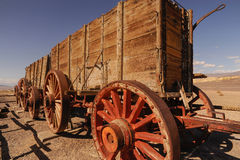 Death Valley, Twenty-mule team wagons be Stock Photo