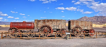 Death Valley, Twenty-mule team wagons Royalty Free Stock Images