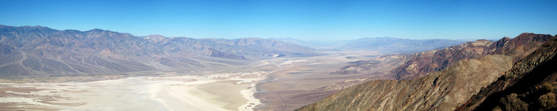 Death Valley ultra wide panorama. Ultra wide panorama of Death Valley National Park (California, USA Stock Photos