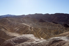 Death Valley Unique Landscape. The unique geological ridges formed over millennia in Death Valley National Park California USA Stock Photo