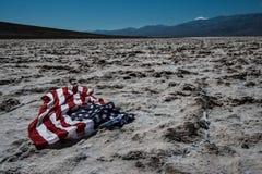 Death Valley USA Flag Stock Photo