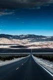 Death Valley väg Arkivfoto