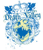 Death valley. Vector illustration ideal for printing on apparel clothes Royalty Free Stock Image