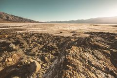 Death Valley Wasteland Panorama stock photography