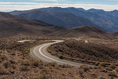 Death Valley Winding Road Royalty Free Stock Image