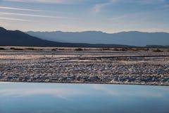 Death Valley y puesta del sol Foto de archivo