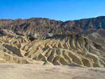 Death Valley: Zabriskie Point. Famous Zabriskie Point in the Death Valley, California, U.S.A stock photo