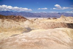 Death Valley Zabriskie Point Royalty Free Stock Photos