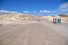 Death Valley Zabriskie Point Royalty Free Stock Image