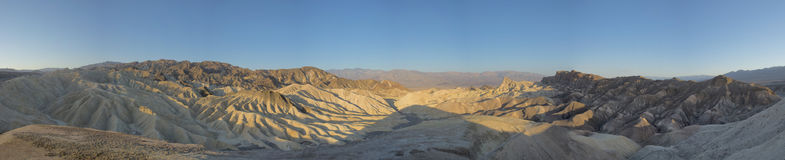 Death Valley Zabriskie Point Huge view. On sunrise royalty free stock photos